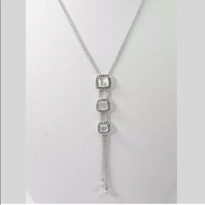 NWT Nadri Mother of Pearl Clear Crystal necklace